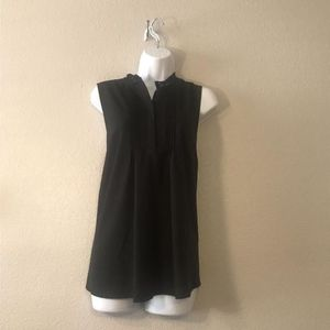 BLACK DRESSY TANK WITH LACE COLLAR
